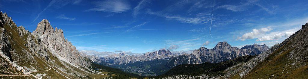 vista panoramica da Cortina d'Ampezzo
