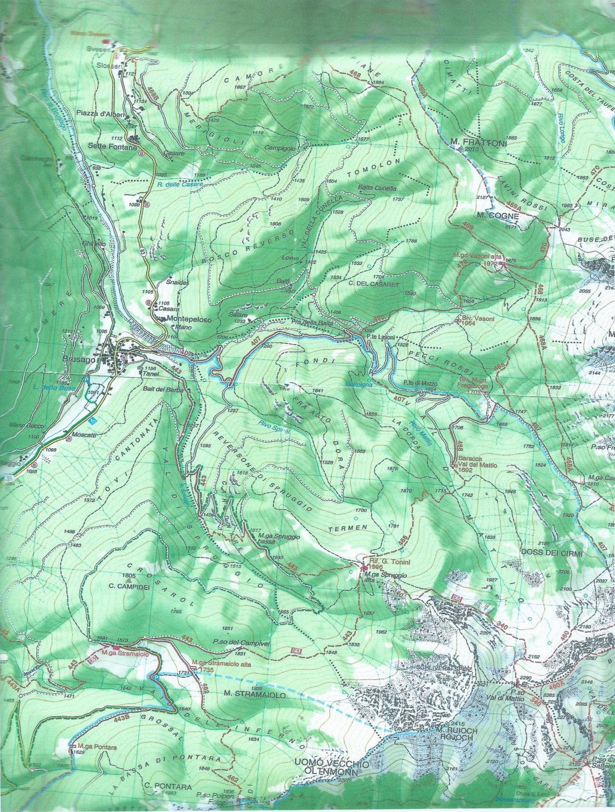 Mappa Monte Cogne